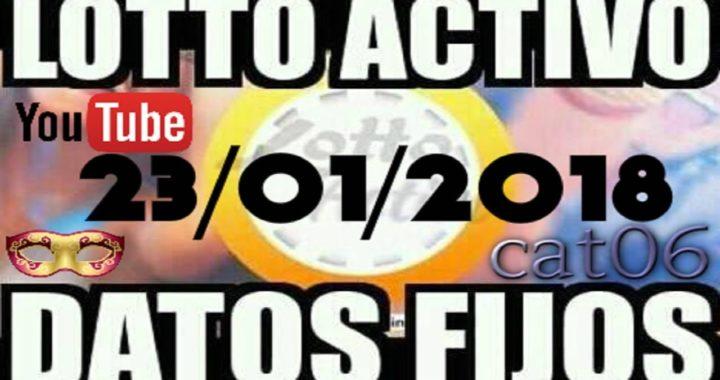 LOTTO ACTIVO DATOS FIJOS PARA GANAR  23/01/2018 cat06
