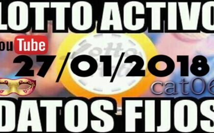 LOTTO ACTIVO DATOS FIJOS PARA GANAR  27/01/2018 cat06