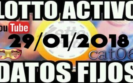 LOTTO ACTIVO DATOS FIJOS PARA GANAR  29/01/2018 cat06