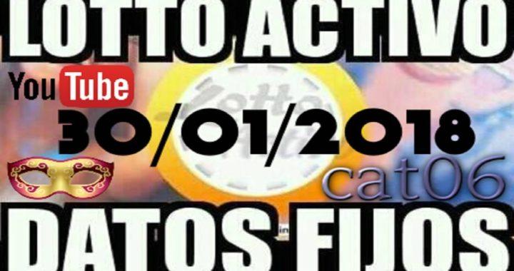 LOTTO ACTIVO DATOS FIJOS PARA GANAR  30/01/2018 cat06