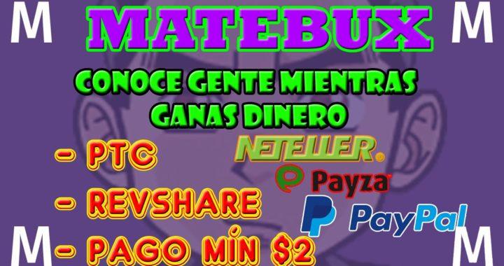 Matebux Como Funciona | Como Ganar Dinero Para Paypal | Matebux Explicación