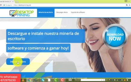 MINERIA DESKTOPMINING $109,00 DÓLARES PRUEBA DE PAGO   MINAR BITCOIN CON TU PC CPU GRATIS 2018
