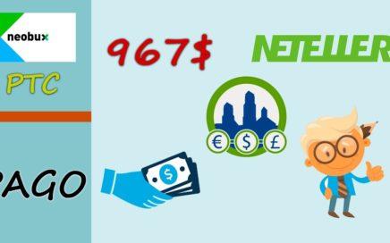 Neobux paga 967$ en DLC | Como ganar más dinero con la mejor página
