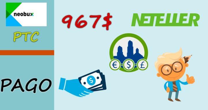 Neobux paga 967$ en DLC   Como ganar más dinero con la mejor página