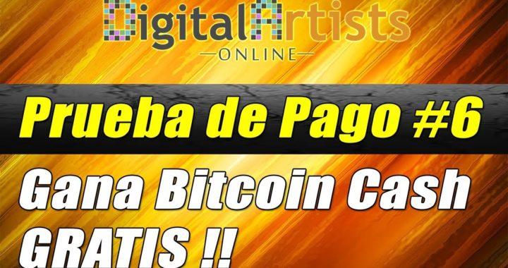 Nuevo Pago de Digital Artists Online Enero 2018, Gana Bitcoin Cash Gratis | Gokustian