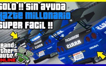 """NUEVO TRUCO DINERO INFINITO [ SOLO SIN AYUDA ] """"GTA V ONLINE"""" $1.000.000 EN MINUTOS"""