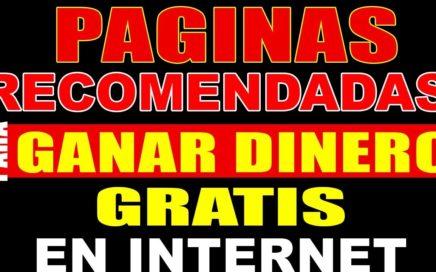 PÁGINAS RECOMENDADAS PARA GANAR DINERO EN INTERNET