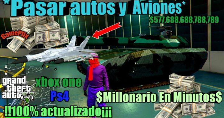 *Pasar autos y  Aviones* amigos Duplicar autos facil y rapido Gta5 online  xbox one ps4