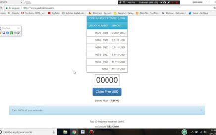 ¡¡¡RECLAMA CADA 5 MINUTOS HASTA 100 DOLARES !!!  usdmemes ganar dinero