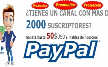 REGALO DE 50$ USD A PAYPAL  NUEVA PROMOCIÓN ! !