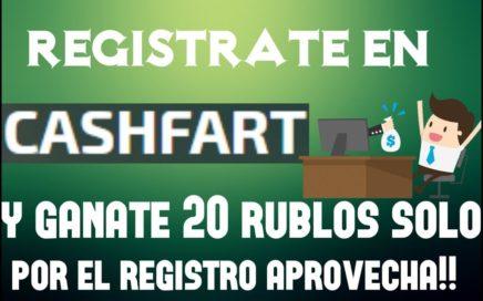 REGISTRATE Y GANA 5 RUBLOS CON - CASHFART - APROVECHA - REGISTRATE YA!