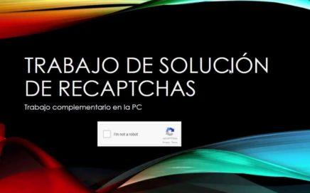 RUCAPTCHA GANA DINERO RESOLVIENDO RECAPTCHAS SIN INVERSION