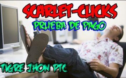 Scarlet Clicks 2018 Paga Prueba de Pago vía paypal | Scarlet Clicks Mi Progreso Comprobante de Pago