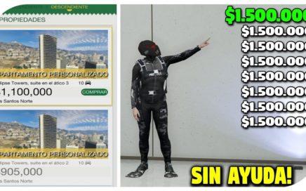 SIN AYUDA - SERAS MILLONARIO CON ESTE METODO DE DINERO INFINITO! - GTA 5 1.42 SP TO MP Money Glitch!