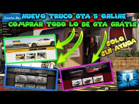 !TODO GRATIS! NUEVO TRUCO GTA 5 ONLINE SOLO SIN AYUDA COMPRAR TODO GTA GRATIS PS4 XBOX ONE Y PC