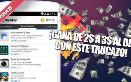 TRUCO conseguir de 2$ a 3$ al DIA en WHAFF!! | 100% VERDADERO | JotaHacks en 2.0 |  PARCHEADO