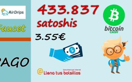2º pago AirDrips (DAO) de 433.837 satoshis Bitcoin Cash | Sin trabajo no hay ganancias