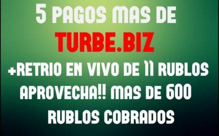5 PAGOS mas de TURBE.BIZ +RETIRO en VIVO - sigue PAGANDO - MEJOR PAGINA RUSA