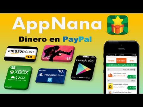 AppNana Gana Dinero en Paypal y Tarjetas Regalo Amazon, iTunes, Google Play   HD
