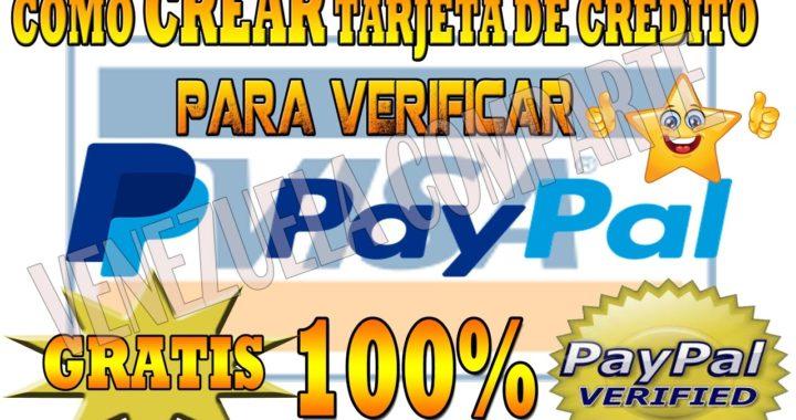 Como CREAR tarjeta de Credito para paypal  VERIFICAR AL 100% COMPROBADO