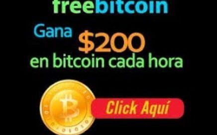COMO GANAR BITCOINS GRATIS CADA HORA 2018 I La Mejor Pagina FIABLE Freebitcoin SIN INVERTIR Nada