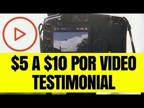 Como Ganar de $5 a $10 Dólares con Videos Testimoniales en Internet