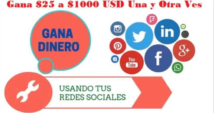 COMO GANAR DINERO DESDE CASA ¡¡¡USANDO TUS REDES SOCIALES!!!