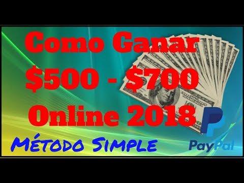 Como Ganar Dinero desde Casa[[Cómo Ganar Dinero por Internet ]] 500 a 700 con Paypal Rapido 2018