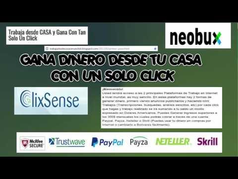Como Ganar dinero en internet $#5 Gana Dinero Desde Casa NEOBUX Y CLIXSENSE Venezuela