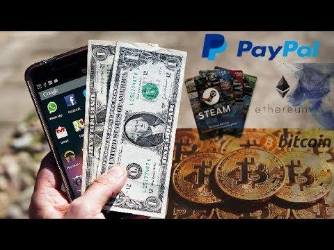 Como ganar dinero por internet desde tu celular (Bitcoin, Ethereum,Paypal,etc)