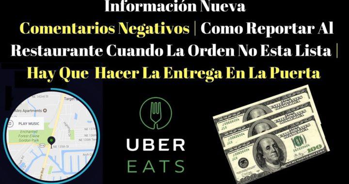 Como Reportar Al Restaurante Cuando La Orden No Esta Lista | Hay Que  Hacer La Entrega En La Puerta