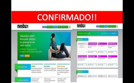 """CONFIRMADO!! Gana Dinero Online con NeoBux y Cobra con Paypal """"La Mejor Pagina"""""""