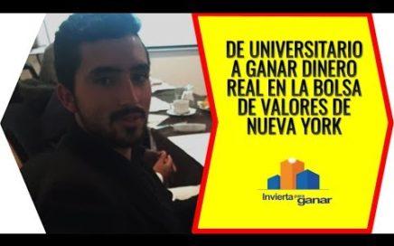 De Universitario A Ganar Dinero Real En La Bolsa De Valores De Nueva York