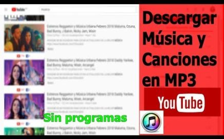 Descargar Música y Canciones en MP3 (Youtube) Sin Programas 2018