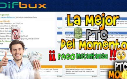 DIFBUX - La mejor pagina PTC para ganar dinero 2018/pagos instantaneos!!