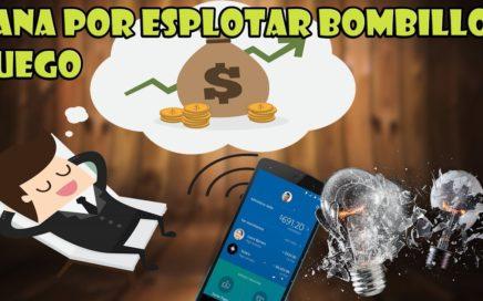 ESTA APP te PAGA por JUGAR un JUEGO de explotar BOMBILLO EN ANDROID | LA MEJOR APP |