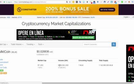 FLASH | MktCoin es Aceptada Mundialmente Por La CoinMarketCap