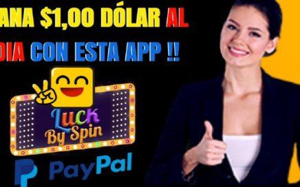 GANA $1,00 DÓLAR por dia con esta APP LUCK by SPIN | Segundo Pago a Paypal