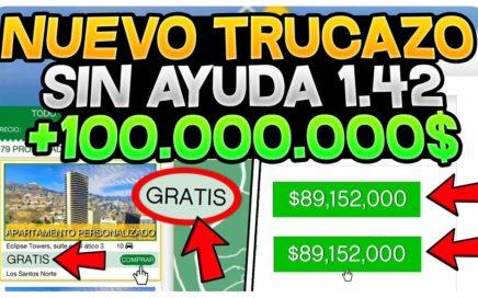 GANA +1,000,000$ CADA 5 MIN SIN AYUDA *SOLO* INCREÍBLE! GTA 5 ONLINE 1.42