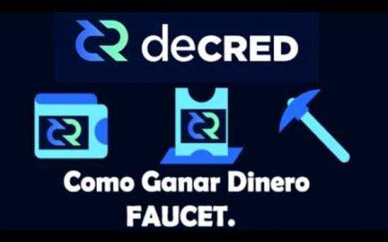 Gana Dinero en DecredFaucet, Tutorial.