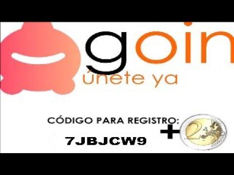 GANA DINERO GRATIS RETIRABLE POR INTERNET 2€ - Goin App Android/iOs