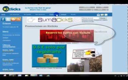 ganar dinero con la mejor web paga '  Kiclicks ' dinero online legalmente.flv
