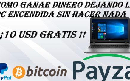 Ganar Dinero  Por Dejar Encendida La Pc  | Earn Money Network |+ Comprobante De Pago 2018