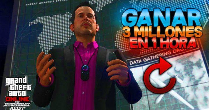 GTA 5 | COMO GANAR 3.000.000$ EN 1 HORA LEGALMENTE! 1.42 [PS4/XBOXONE]