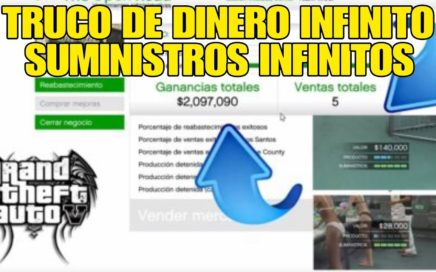 GTA 5 ONLINE TRUCO DE DINERO INFINITO SUMINISTROS INFINITOS ILIMITADOS 1.42 (PS4/XBOX ONE/PC)