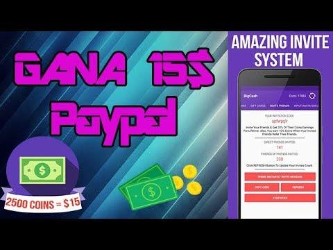 INCREIBLE APP PARA GANAR DINERO!!! GANA 15$ MIRANDO ANUNCIOS | BigCash