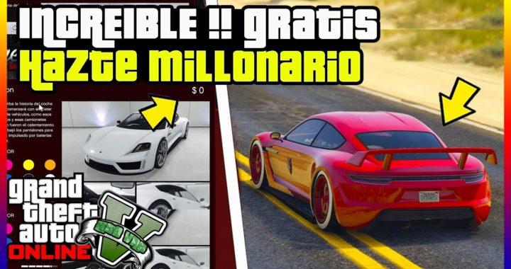 """INCREIBLE !! HAZTE MILLONARIO OBTENIENDO AUTOS GRATIS EN """"GTA 5 ONLINE"""" SUPER FACIL"""