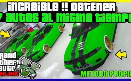 """INCREIBLE !! OBTENER 7 AUTOS AL MISMO TIEMPO GRATIS """"GTA V ONLINE"""" DUPLICAR AUTOS FACIL"""