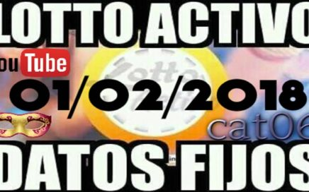 LOTTO ACTIVO DATOS FIJOS PARA GANAR  01/02/2018 cat06