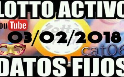 LOTTO ACTIVO DATOS FIJOS PARA GANAR  03/02/2018 cat06